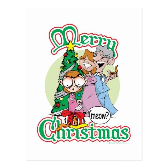 Merry Christmas Meow Postcard