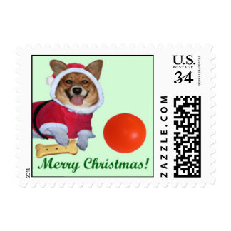Merry Christmas Mercy Green Small Postcard Stamp
