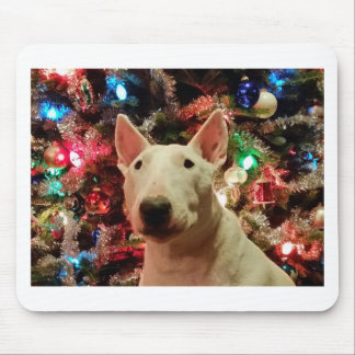 Merry Christmas Merra Bull terrier Mouse Pad