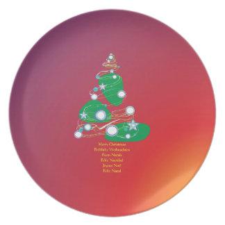 Merry Christmas merry Christmas Buon Natale Dinner Plate