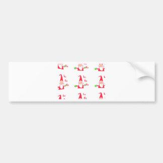 Merry Christmas Merry Christmas Funny Santa Hohoho Bumper Sticker