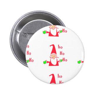 Merry Christmas Merry Christmas Funny Santa Hohoho Pinback Button
