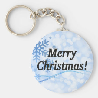 Merry Christmas! Merry Christmas in English. bf Basic Round Button Keychain