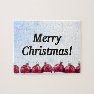 Merry Christmas! Merry Christmas in English bf Jigsaw Puzzle