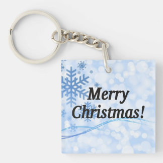 Merry Christmas! Merry Christmas in English. bf Single-Sided Square Acrylic Keychain