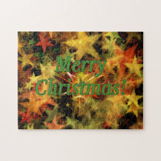 Merry Christmas! Merry Christmas in English.gf Jigsaw Puzzle