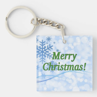 Merry Christmas! Merry Christmas in English. gf Single-Sided Square Acrylic Keychain