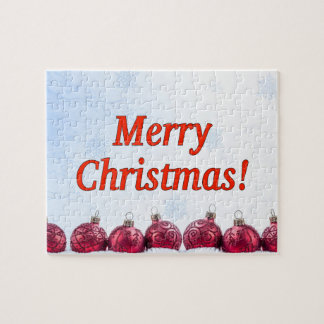 Merry Christmas! Merry Christmas in English rf Jigsaw Puzzle