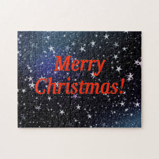 Merry Christmas! Merry Christmas in English. rf Jigsaw Puzzle