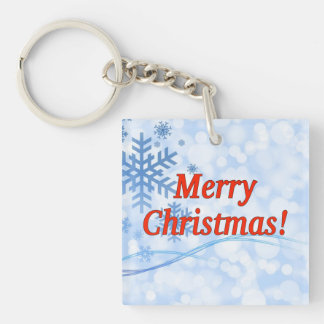 Merry Christmas! Merry Christmas in English. rf Single-Sided Square Acrylic Keychain