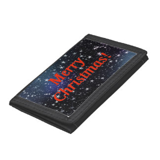 Merry Christmas! Merry Christmas in English. rf Trifold Wallets