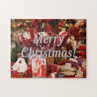 Merry Christmas! Merry Christmas in English. wf Jigsaw Puzzle