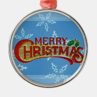 Merry Christmas Metal Ornament