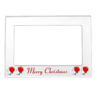 Merry Christmas Mice and Ornaments Magnetic Frame