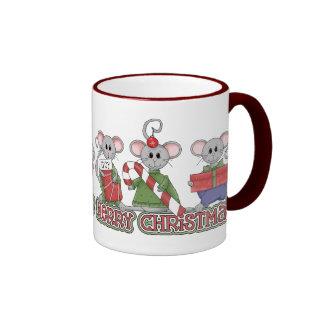 Merry Christmas Mice Mugs