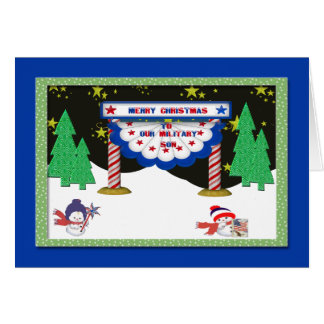Merry Christmas Military Card for Son