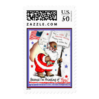 Merry Christmas Military Postage Stamps at Zazzle