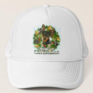 Merry Christmas Min Pin Trucker Hat