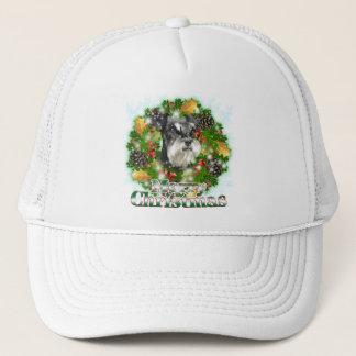 Merry Christmas Miniature Schnauser Trucker Hat