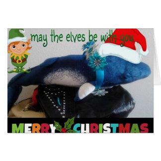 Merry Christmas Minke Whale Holiday Greeting Card