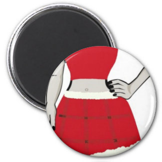Merry Christmas Miss Vivi 2 Inch Round Magnet