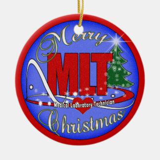 MERRY CHRISTMAS MLT ORNAMENT  MEDICAL LAB TECH
