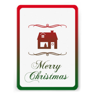 merry christmas (mod home) card