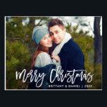 "Merry Christmas Modern Brush Script Photo Postcard<br><div class=""desc"">Modern Brush Script Merry Christmas Photo Postcard</div>"
