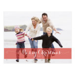 MERRY CHRISTMAS MODERN RED HOLIDAY PHOTO CARD