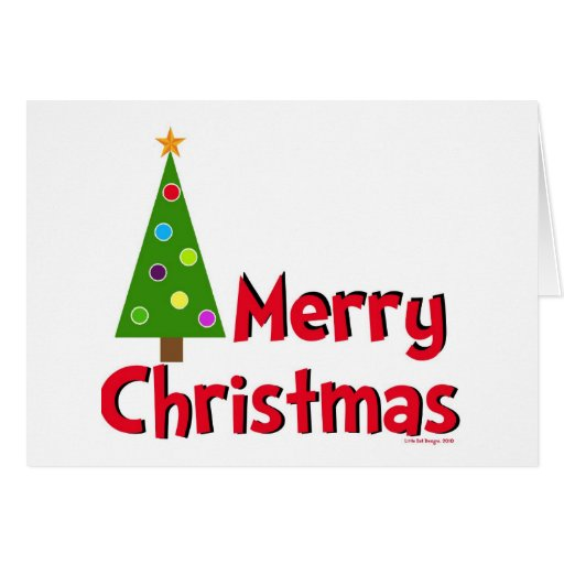 Merry Christmas, Modern Tree Greeting Card