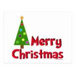 Merry Christmas, Modern Tree Postcard