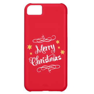 Merry Christmas Modern Typography iPhone 5C Covers