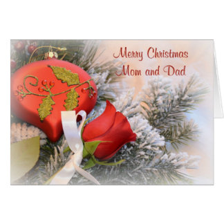 Merry Christmas Mom and Dad Card
