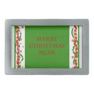 Merry Christmas Mom Belt Buckle