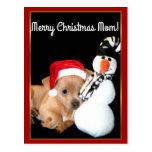 Merry Christmas Mom Chihuahua postcard