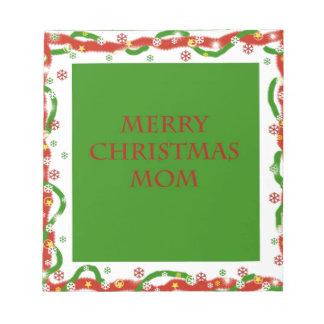 Merry Christmas Mom Scratch Pad