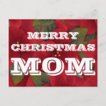 Merry Christmas Mom Postcard