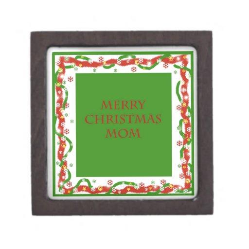 Merry Christmas Mom Premium Jewelry Boxes