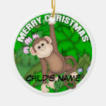 Merry Christmas Monkey Christmas Ornaments