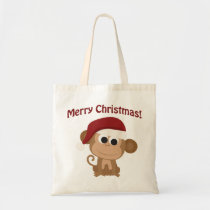 Merry Christmas! Monkey Tote Bag