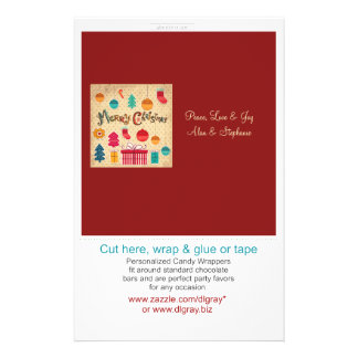 Merry Christmas Montage Candy Wrappers Custom Flyer
