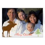 Merry Christmas Moose Greeting Card