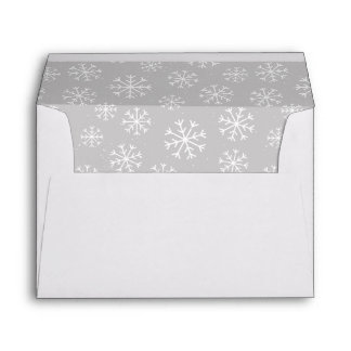 Merry Christmas Moose with Snowflakes Envelope