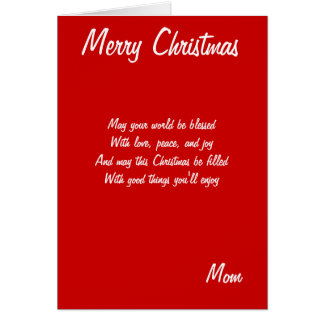 Merry Christmas mother cards