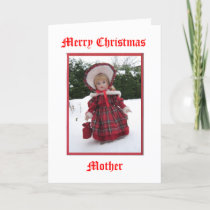 Merry Christmas Mother Holiday Card