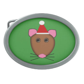 Merry Christmas Mouse Belt Buckle