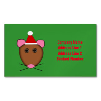 Merry Christmas Mouse Custom Business Cards