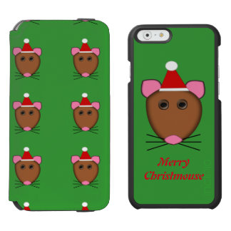 Merry Christmas Mouse Custom iPhone Wallet Case