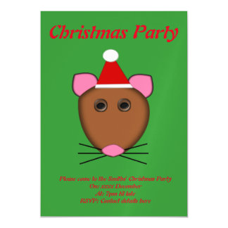 Merry Christmas Mouse Custom Party Invite