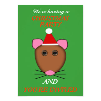 Merry Christmas Mouse Custom Party Invites